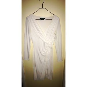 Ralph Lauren white long-sleeve dress